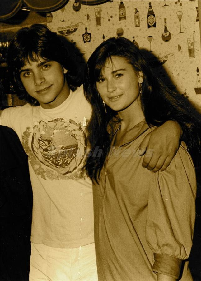 Demi Moore posted this old school pic of her and John Stamos on her twitter…