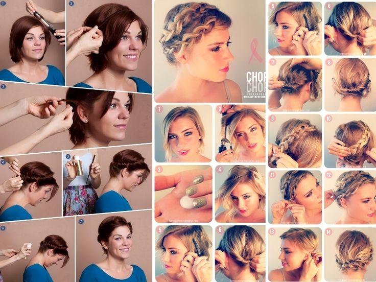 Acconciature capelli corti/short hairdo Acconciature con capelli corti, ecco qualche idea e tutorial semplice da fare <3 NEW POST http://visualfashionist.blogspot.it/2013/04/acconciature-con-capelli-corti-qualche.html