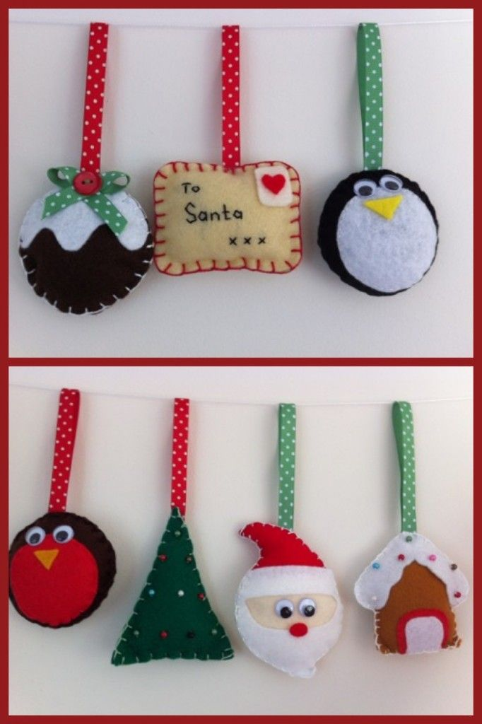 Pinterest Christmas Ideas And Crafts Part - 42: Felt Christmas Decorations - The Supermums Craft Fair