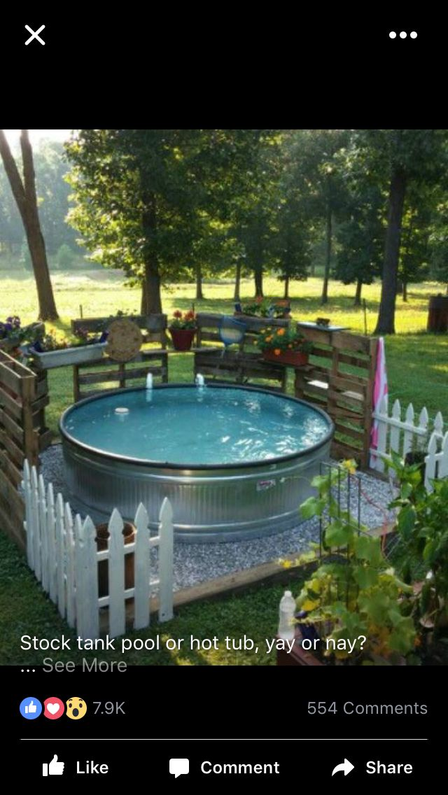 DIY Galvanized Stock Tank Pool to Beat