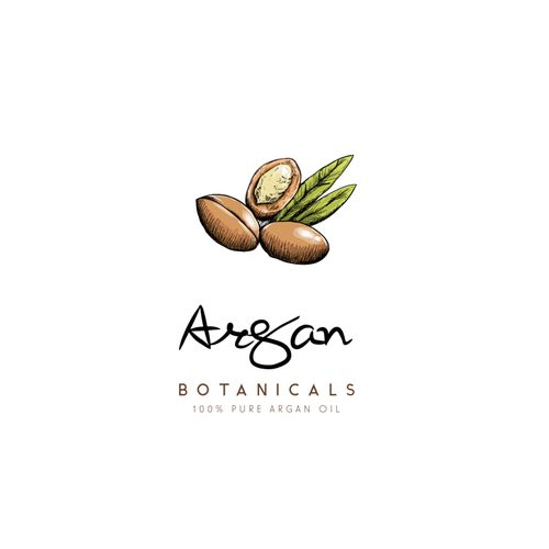 This logo is a hand drawn logo of an Argan nut. Trying to keep it clean, simple, classic, and modern at the same time.