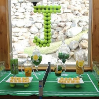 Tennis Party {sports theme party}