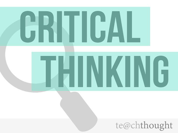 What does creating and thinking critically mean