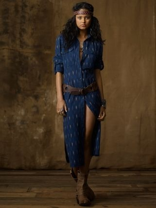 Ralph Lauren Denim & Supply Ikat Cotton Shirtdress