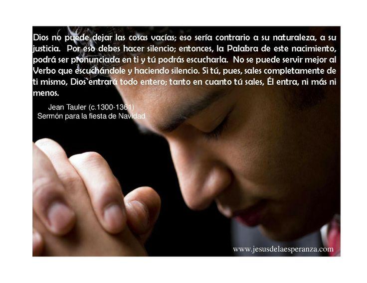 Hacer silencio...¡cómo nos cuesta!  Visita: www.jesusdelaesperanza.com