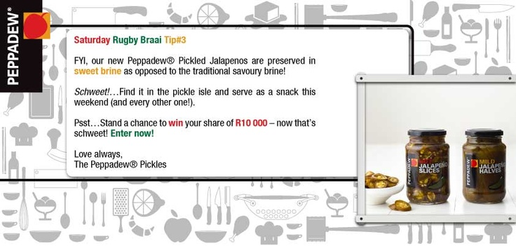 FIY Tip #3 No traditional savoury brine, that's great!! Enter our In A Pickle competition! Enter here from your PC: http://ow.ly/lqKMk or from your mobile: http://ow.ly/lqKQQ