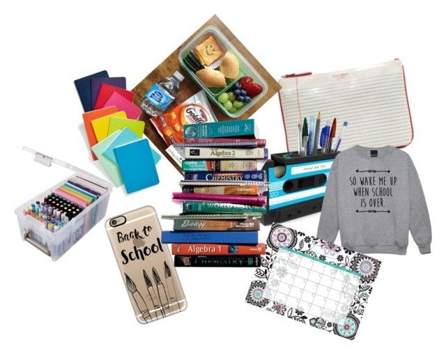 Back to school things by sweety-kami on Polyvore featuring art