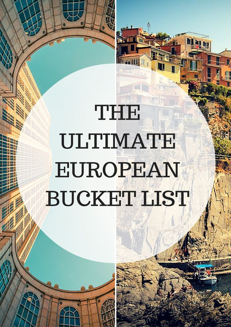 The beauty of Europe is that you can travel without showing a passport. Traveling such a vast area, with different cultures, natural beauty, and history. To be fair, Europe is quite enormous so there's no shortage of must do's when you visit. Here's your ultimate Europa Bucket List. #Travel #wanderlust #Europe