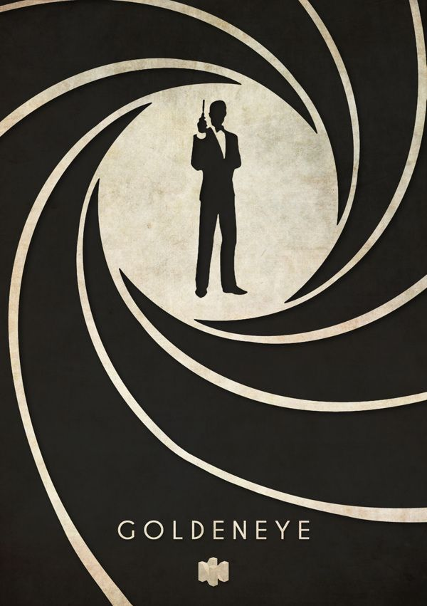 Nintendo 64 N64 Minimalist Design Timmy Burrows Goldeneye 007 James Bond