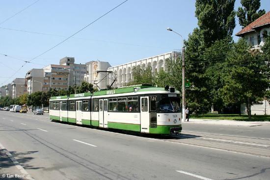 Tramvai pe Calea Călăraşilor,Braila, Rumania.