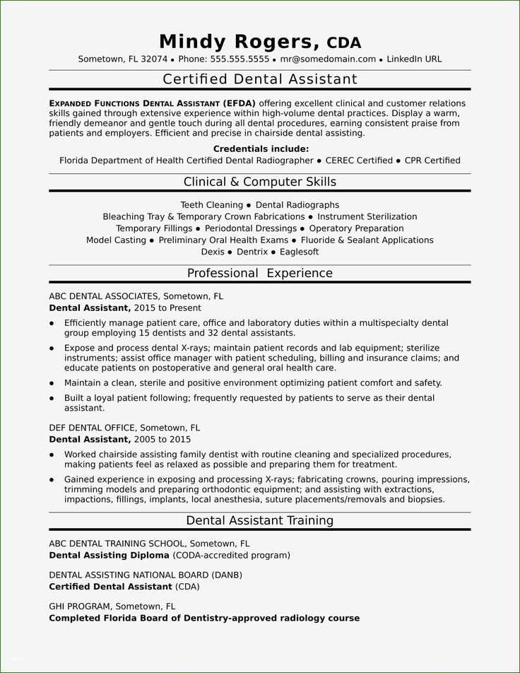 Dental assistant resumes template 14 meaning that prove