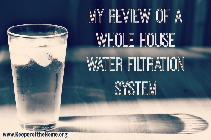 Are you considering different water filtering systems? There's all kinds of options out there – from small batches of filtered water, sink and shower attachments, and whole house water filtration systems. Here's Stephanie's review of a whole house water filtration system.