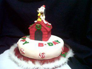 TORTA DE SNOOPY Y WOODSTOCK. Feliz Cumpleaños.
