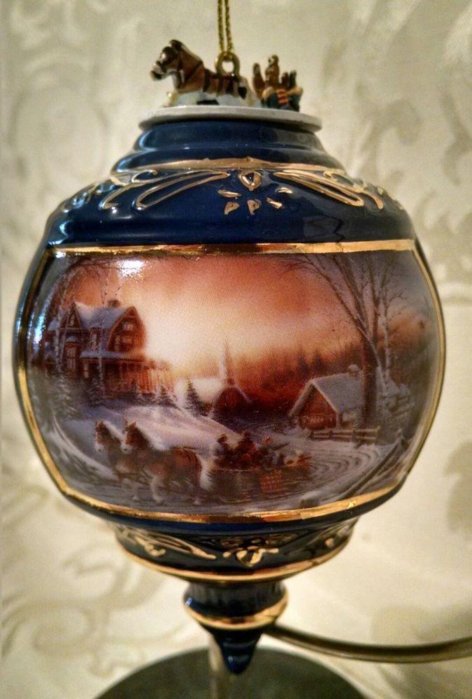 Terry Redlin Christmas Ornament Pleasures Of Winter Heirloom Hadley  Collection - Terry Redlin Christmas Ornament Pleasures Of Winter Heirloom Hadley