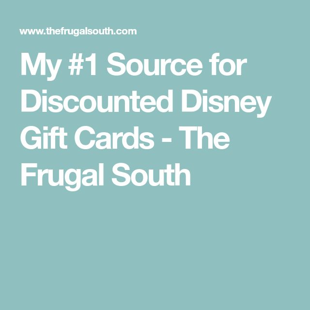 The 25+ best Discount disney gift cards ideas on Pinterest ...