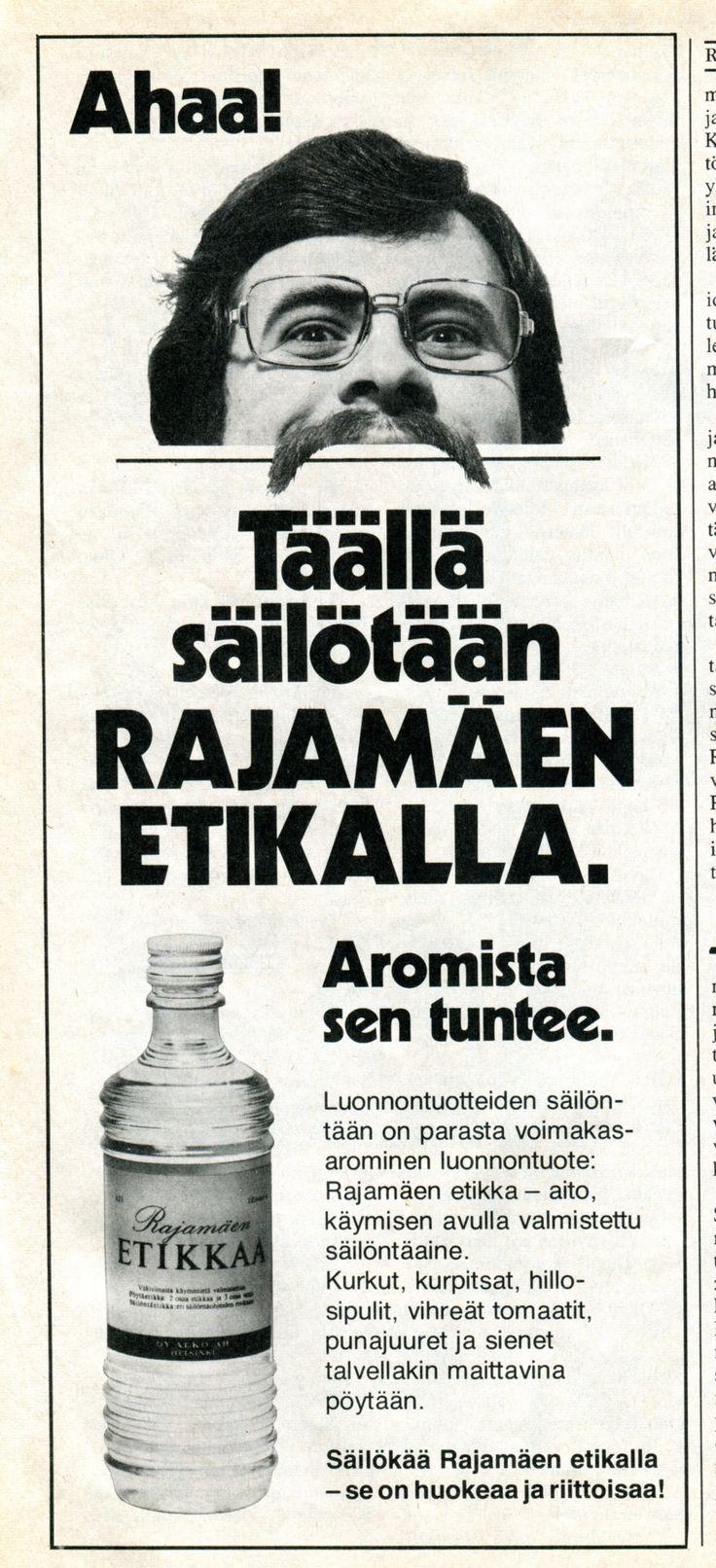 Rajamäki vinegar ad. 1970's.
