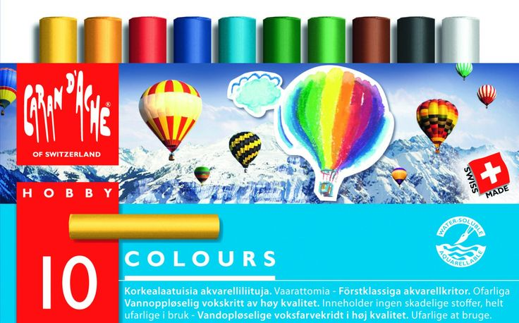Lekolar: Akvarelliliitu Caran d'Ache Hobby, 10 väriä x 2 ras