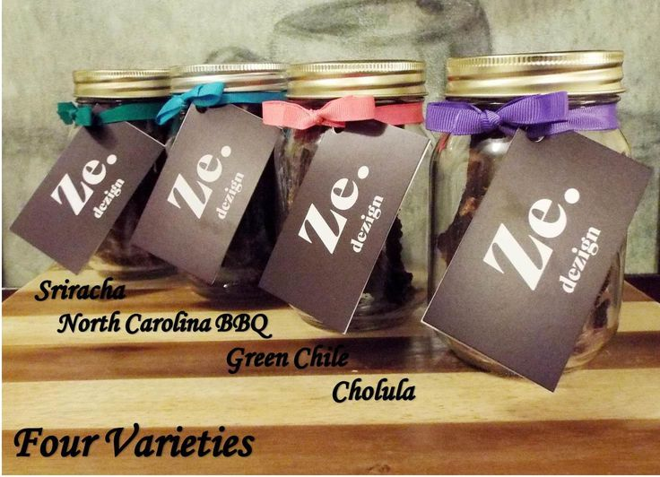 Beef Jerky Sampler, Four Flavors, Free Shipping, Sriracha, Green Chile, NC BBQ, Cholula, Gifts for Men, Anniversary, Organic, Homemade, Gift by Zedezign on Etsy https://www.etsy.com/listing/220203418/beef-jerky-sampler-four-flavors-free