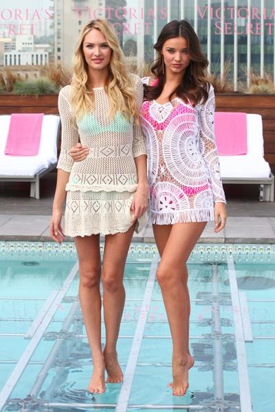 Miranda Kerr, Candice Swanepoel launch Victorias Secret new swim collection, love these!