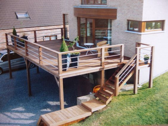 Inspiration 20 Terrasses Sur Pilotis Balkon Bauen Terrasse Aussenboden
