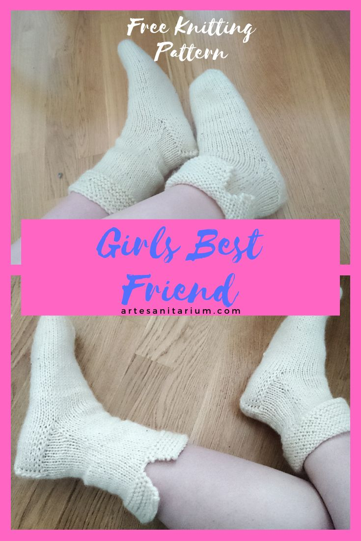 Free knitting pattern for bulky boot sock, knitted cozy ...