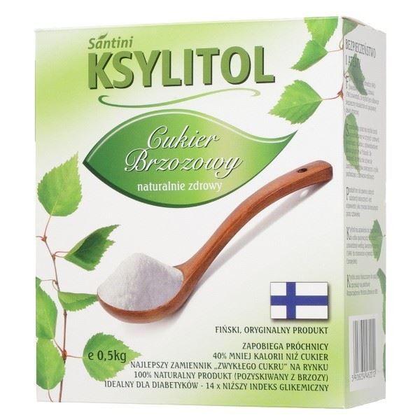 Ksylitol, krystaliczny cukier brzozowy, 500 g - Santini