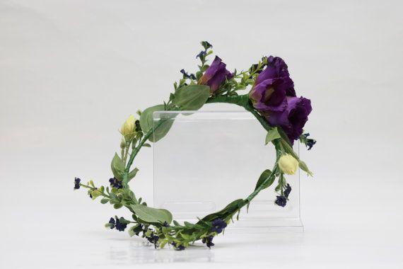 Purple lisianthus flower crown  https://www.etsy.com/au/listing/455077314/purple-lisianthus-flower-crown-for