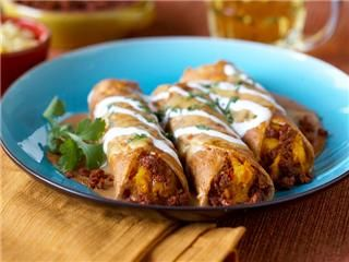 Winter Enchiladas - These are delicious! I used chicken chorizo and cooked the squash in the microwave.