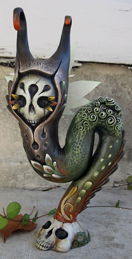 By Jason Limon: Art Sculpture, Autumn Halloween, Limon Nefertiti, Artists Jason, Jason Limon, Halloween Fall Spooky, Nether Monsters, Nefertiti Mujav, Sculpture Microsculptur