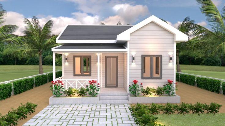 House Plans 7x6 With One Bedroom Cross Gable Roof Tiny House Design 3d Rumah Pedesaan Rumah Indah Rumah Impian