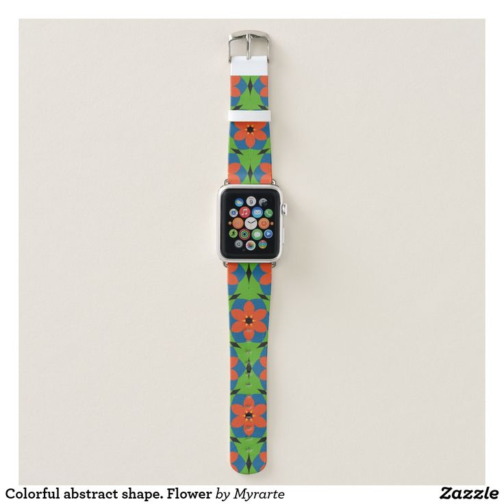 Colorful abstract shape. Flower. Producto disponible en tienda Zazzle. Accesorios, moda. Product available in Zazzle store. Fashion Accessories. Regalos, Gifts. #reloj #watch #bands
