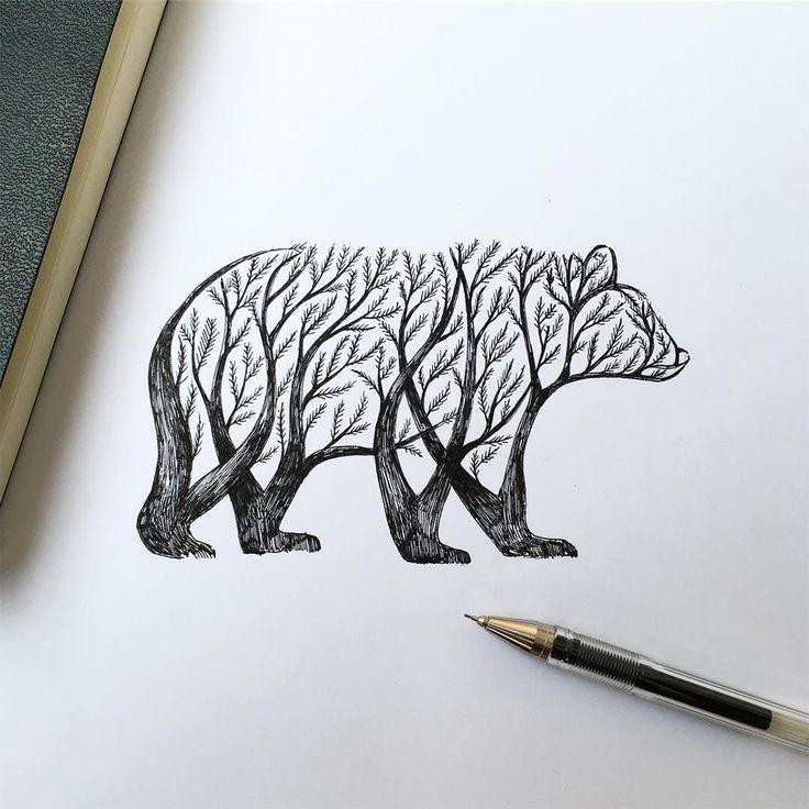 En Italie, l'artiste Alfred Basha réalise de superbes illustrations où les plantes et les animaux ne font plus qu'un.
