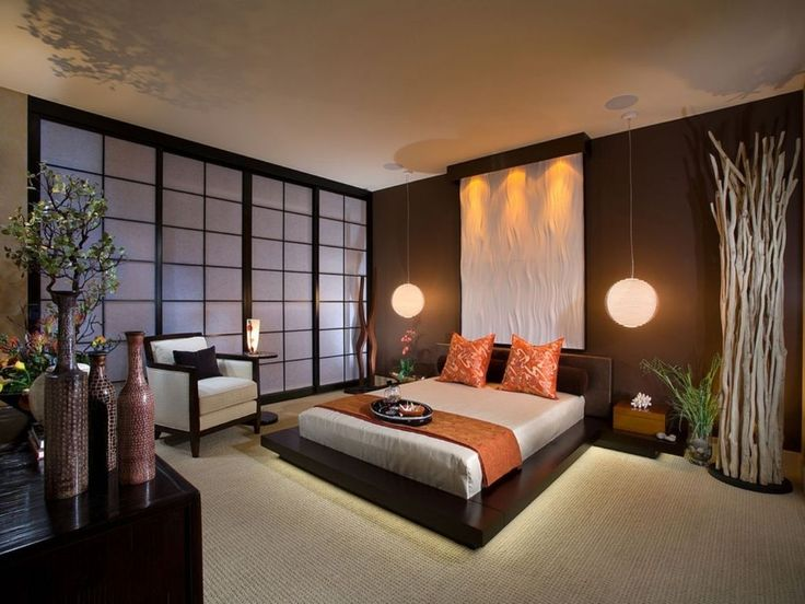 modern japanese style bedroom design for small space