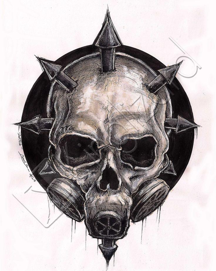 """""""chaos skull for Bad Taste"""" ©Kinglizard.art_2014"""