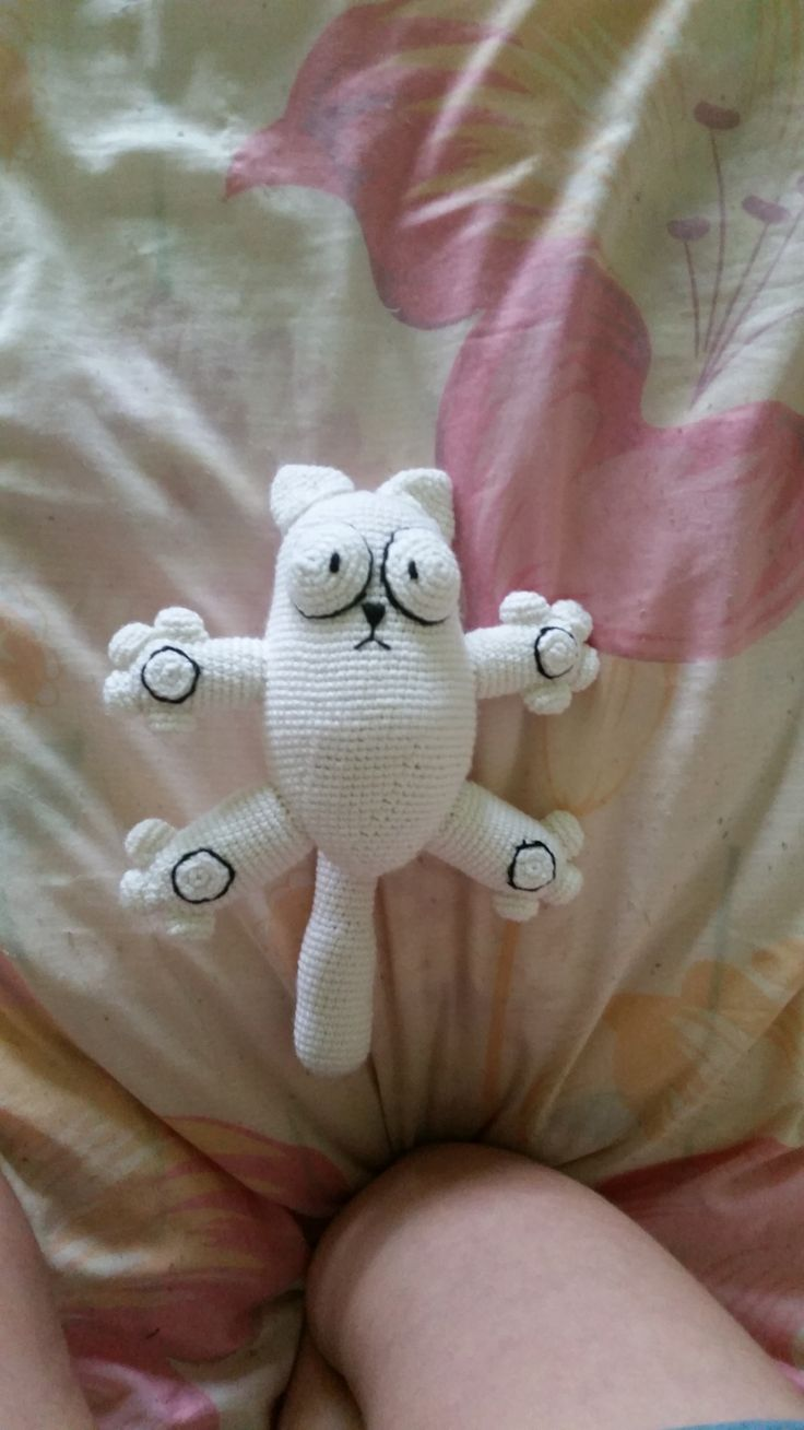 Кот Саймона амигуруми. Схема вязания. | Амигуруми — схемы, амигуруми крючком, вязание и игрушки амигуруми. Амигуруми всех стран!