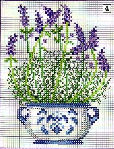 cross stitch lavender+