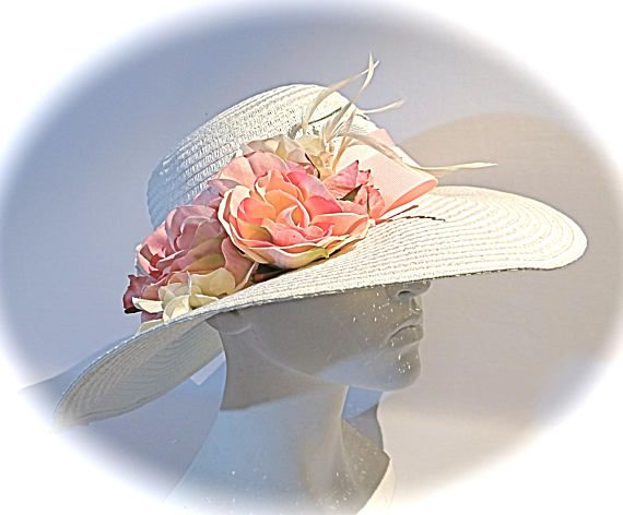 Ladies Sun Hat Kentucky Derby Mother of the Bride Easter
