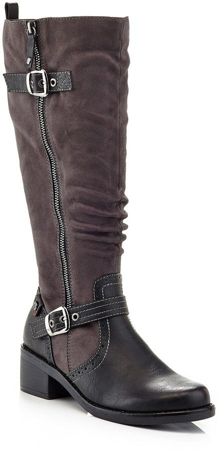 EXTREME By Eddie Marc London Spiked Rider Boot