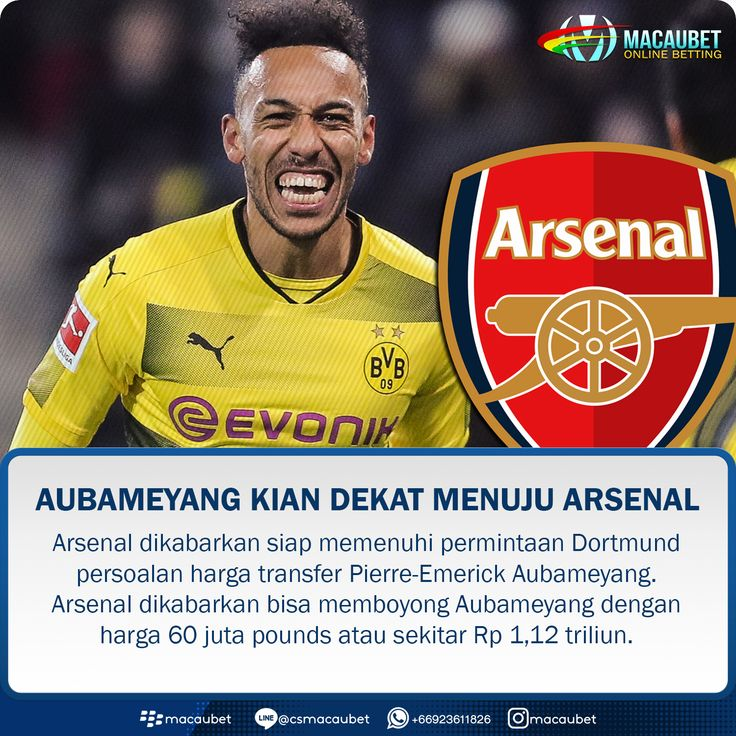 #Macaubet  #MacaubetOnline  #Soccer #News #Sport #Sepakbola #Football #JudiBola #AgenBola #BandarBola #AgenJudi #BandarJudi #Sportbook #MixParlay #TaruhanOnline #Like4Like #BandarOnline #OnlineBetting #BeritaSepakbola #JadwalBola #Beritabola #CasinoOnline #Arsenal #Aubameyang #Dortmund #PremierLeague #Sanchez #TheGunners #Gunners #EPL