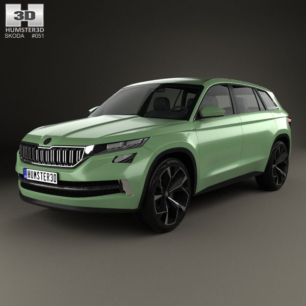 Skoda VisionS 2016 3d model from Humster3D.com.