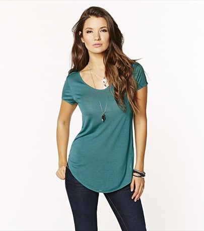 We promise it's the softest tee you'll own! Get it in this fresh green hue.
