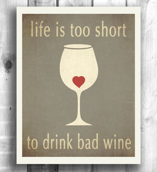 Typographic poster wine print inspirational art by HappyLetterShop