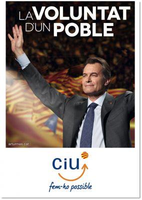 Convergència i Unió. Cartell electoral: autonòmiques 2012
