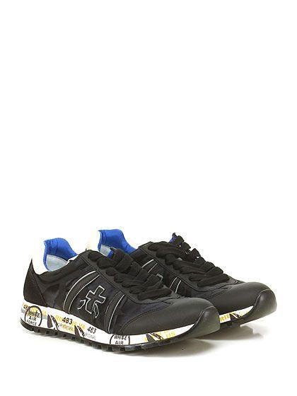 PREMIATA - Sneakers - Donna - Sneaker in pelle, tessuto tecnico stampato e…