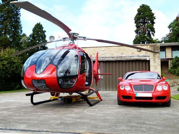 Airbus Helicopters H130 (раньше Eurocopter EC130) и Bentley Continental - отличная компания!  А вы что бы добавили?