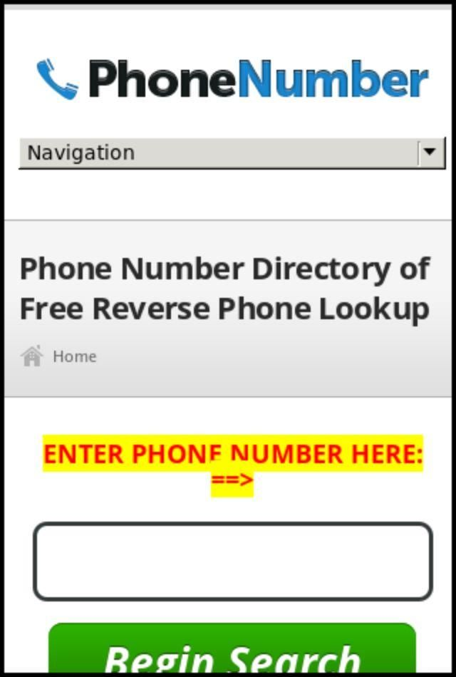 Overseas telephone number search