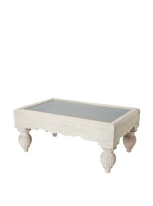 73,800% OFF GuildMaster Shadow Box Coffee Table, Lime Wash/Olive