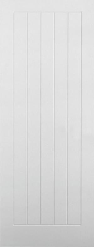 Internal Door White Moulded Textured Vertical 5 Panel