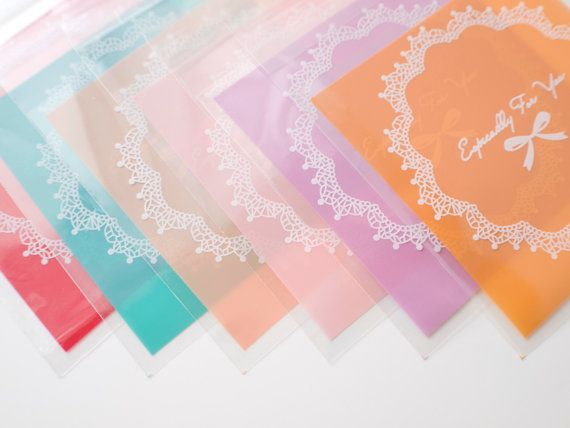 Mixed color favor bags  fold down adhesive by ctdscraftsupply