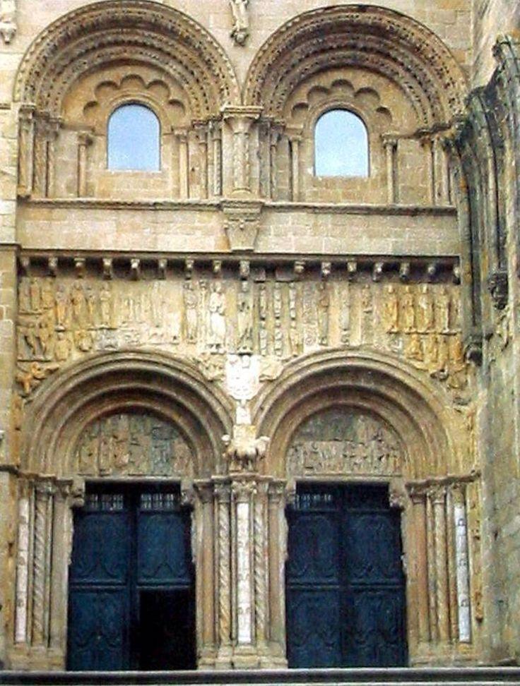 Puerta de las plater as catedral de santiago de compostela arcos polilobulados en las ventanas - Arcos decorativos para puertas ...